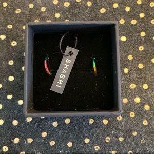 Shashi Rainbow Huggie Earrings